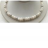 Perlový náhrdelník jezerní perly 9mm NJ9416