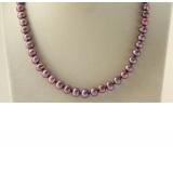 Perlový náhrdelník jezerní perly 9mm NJ9405