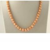 Perlový náhrdelník jezerní perly 9mm NJ9398