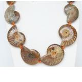 Náhrdelník ze zkamenělých šnečků NJ9378