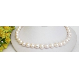 Perlový náhrdelník bílé jezerní perly 12mm NJ6517