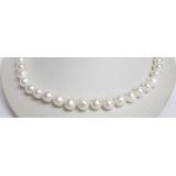 Perlový náhrdelník bílé jezerní perly 11mm NJ6536