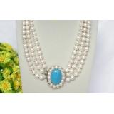Perlový náhrdelník bílé jezerní perly 10mm NJ8265