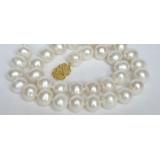 Perlový náhrdelník bílé jezerní perly 14mm NJ7059