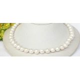 Perlový náhrdelník bílé jezerní perly 11mm NJ8325