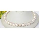 Perlový náhrdelník bílé jezerní perly 13mm NJ8322