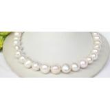 Perlový náhrdelník bílé jezerní perly 14mm NJ8324