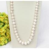Perlový náhrdelník bílé jezerní perly 14mm NJ8323