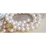 Perlový náhrdelník bílé jezerní perly 11mm NJ4498