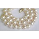 Perlový náhrdelník bílé jezerní perly 10mm NJ7504