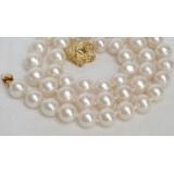 Perlový náhrdelník bílé jezerní perly 10mm NJ7093