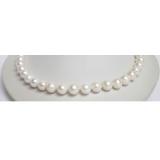 Perlový náhrdelník bílé jezerní perly 11mm NJ6544