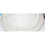 Perlový náhrdelník bílé jezerní perly 12mm NJ8190
