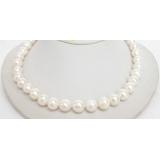 Perlový náhrdelník bílé jezerní perly 12mm NJ6761