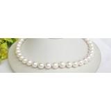 Perlový náhrdelník bílé jezerní perly 12mm NJ7509
