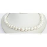 Perlový náhrdelník bílé jezerní perly 13mm NJ7052