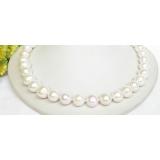 Perlový náhrdelník bílé jezerní perly 13mm NJ7852