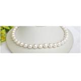 Perlový náhrdelník bílé jezerní perly 11mm NJ7867