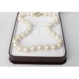 Perlový náhrdelník bílé jezerní perly 14mm NJ8103