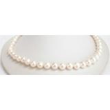 Perlový náhrdelník bílé jezerní perly 10mm NJ6740