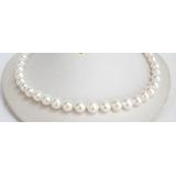 Perlový náhrdelník bílé jezerní perly 11mm NJ6737