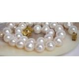 Perlový náhrdelník bílé jezerní perly 13mm NJ6757