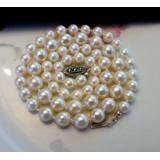 Perlový náhrdelník bílé mořské akoya perly 8mm SV006