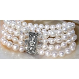Perlový náramek bílé jezerní perly 8mm BJ7912