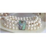 Perlový náramek bílé jezerní perly 8mm B164