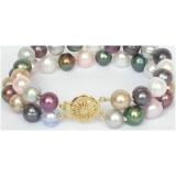 Perlový náramek jezerní perly multicolor 10mm BJ7048