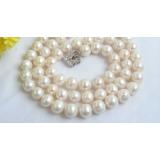 Perlový náhrdelník bílé jezerní perly 11mm NJ7366