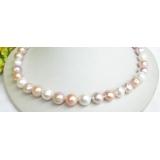 Perlový náhrdelník barevné jezerní perly 11mm NJ7618