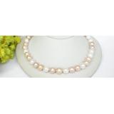 Perlový náhrdelník barevné jezerní perly 12mm NJ7378