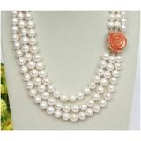 Perlový náhrdelník bílé jezerní perly 10mm NJ8618