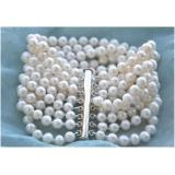 Perlový náramek jezerní bílé perly BB054