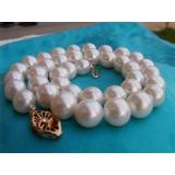 Perlový náhrdelník pravé bílé jezerní perly 12mm NB111