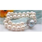 Perlový náramek bílé jezerní perly 12mm BJ1812