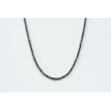 Diamantový náhrdelník přírodní černý diamant 3.5mm ES144