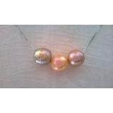 Perlový náhrdelník jezerní duhové obláčkové perly 11mm CS0269