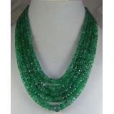 Náhrdelník přírodní smaragdy DL039