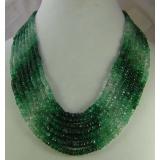 Náhrdelník přírodní smaragdy DL063