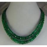 Náhrdelník přírodní smaragdy 6mm DL069
