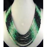 Náhrdelník přírodní smaragd DL003