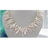 Perlový náhrdelník jezerní bílé perly 30mm, EC037