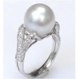 Prsten s mořskou perlou south sea 11.4mm ES009