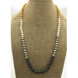 Perlový náhrdelník jezerní barevné perly 7mm ES160