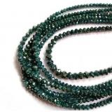 Náhrdelník přírodní zelené diamanty ES162