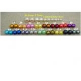 Perlové náušnice z jezerních barvených perel WN002