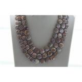 Perlový náhrdelník jezerní duhové krémové coin perly 12mm NJ9510