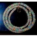 Náhrdelník přírodní etiopský duhový opál ID005